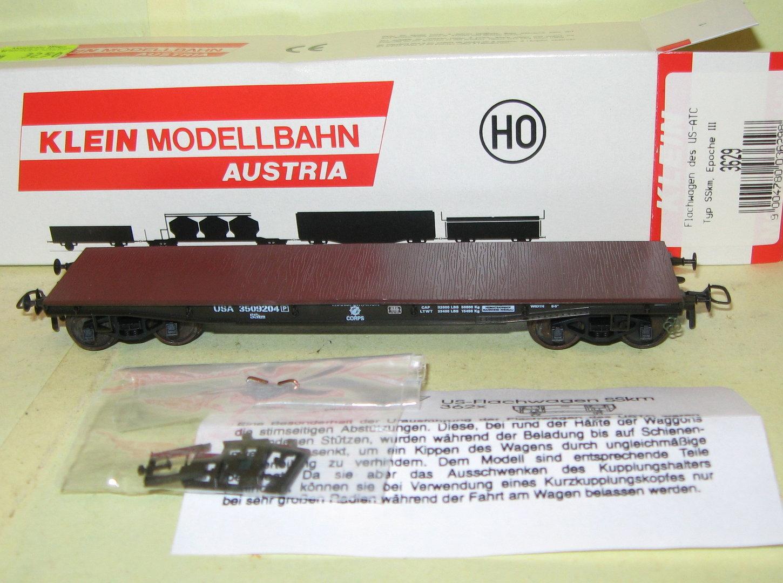 Klein Modellbahn 3629 USTC Flachwagen SSkm Ep.3 m. KK i.OVP