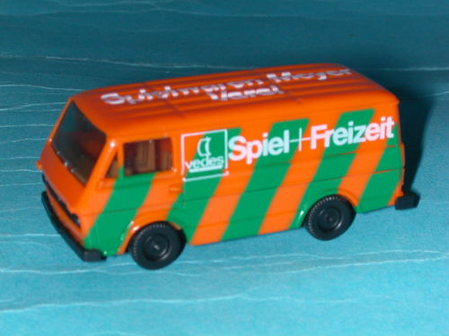 Herpa VW LT 28 Kasten orange / grün VEDES Spielwaren Meyer Varel