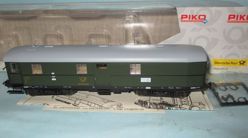 Piko 53223 Deutsche Post Bahnpostwagen Post 4-e-b/15 DR Ep.3 m. KK i.OVP