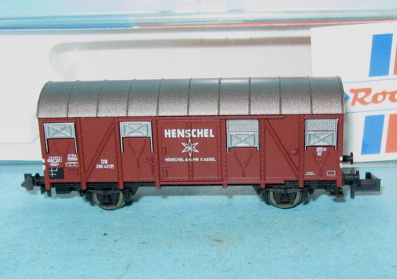 """Unbespielt /""""6748 Roco N 25445 Gedeckter Güterwagen Henschel der DB"""