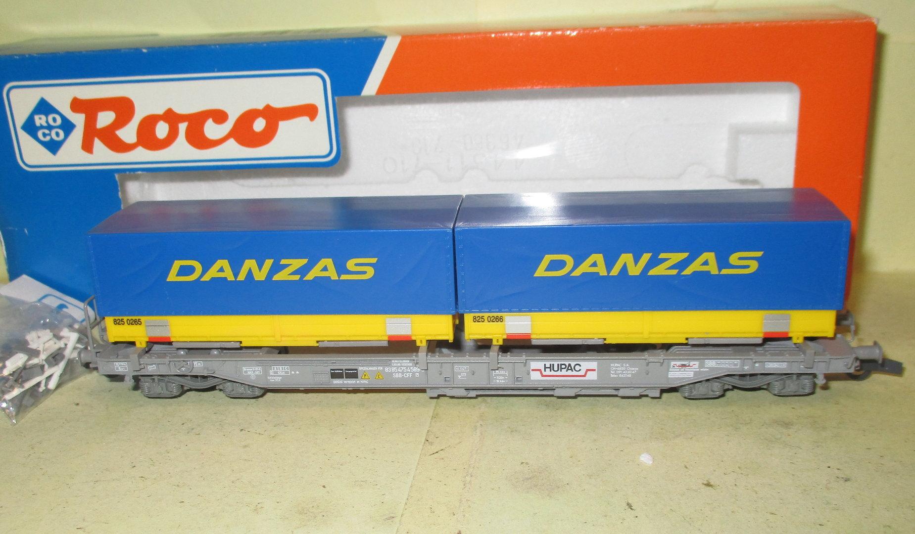 BM2455 Roco H0 46355 Taschenwagen Danzas Hupac SBB CFF OVP
