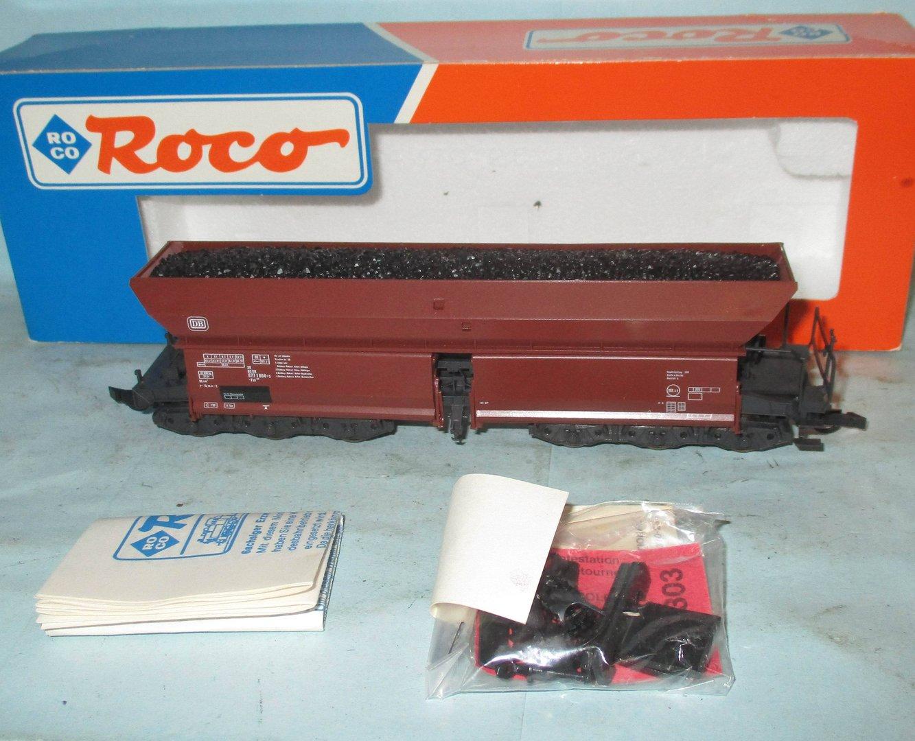 Roco H0 46250 Selbstentladewagen Peine Salzgitter Fad beladen DB OVP BM69